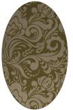 rug #412417   oval brown damask rug
