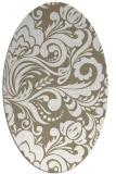 rug #412437 | oval white damask rug