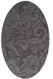 rug #412445   oval brown damask rug