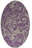 rug #412477 | oval purple damask rug