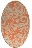 rug #412493 | oval orange damask rug
