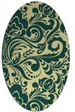 rug #412501 | oval yellow rug