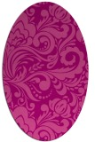 rug #412505   oval pink damask rug