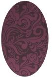 rug #412521 | oval purple rug
