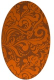 rug #412561 | oval red-orange damask rug