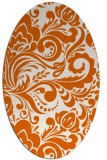 rug #412565 | oval red-orange damask rug