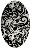 rug #412569 | oval white damask rug