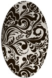 rug #412593 | oval brown rug