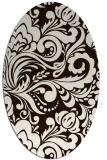rug #412594 | oval damask rug