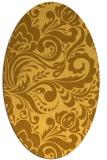 rug #412601 | oval light-orange damask rug