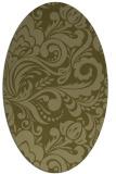 rug #412629 | oval light-green damask rug