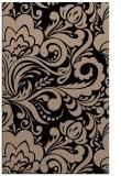 rug #412661    black damask rug
