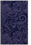 rug #412733    blue-violet damask rug