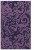 rug #412745 |  blue-violet damask rug
