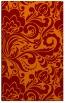 rug #412837 |  orange damask rug