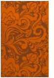 rug #412913 |  red-orange damask rug
