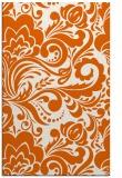 rug #412917 |  red-orange damask rug