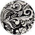 rug #413005   round black damask rug