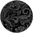 rug #413009 | round black damask rug