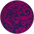 rug #413029 | round blue rug