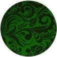 rug #413069 | round green damask rug