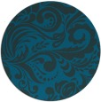 rug #413081 | round blue-green damask rug