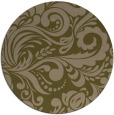rug #413121 | round mid-brown damask rug