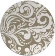 rug #413141   round mid-brown damask rug