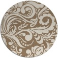 rug #413153 | round mid-brown damask rug