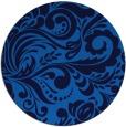 rug #413169 | round blue damask rug