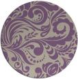 rug #413181   round purple damask rug