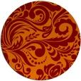 rug #413189   round orange damask rug