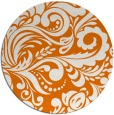 rug #413193 | round orange damask rug