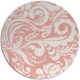 rug #413221   round white damask rug