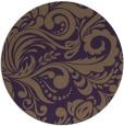 rug #413233 | round mid-brown damask rug