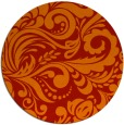 rug #413245 | round red damask rug