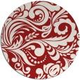 rug #413249 | round red damask rug