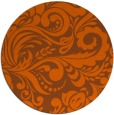 rug #413265 | round red-orange damask rug