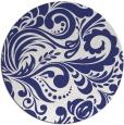 rug #413281   round blue damask rug