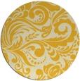 rug #413289 | round yellow popular rug