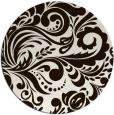 rug #413297 | round brown rug
