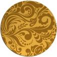 rug #413305 | round light-orange damask rug