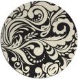 rug #413309   round black damask rug
