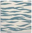 rug #413729   square blue-green animal rug