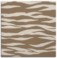 rug #413857 | square mid-brown stripes rug