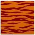 rug #413893 | square red-orange animal rug