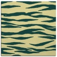 rug #413909 | square yellow stripes rug