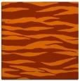 rug #413961 | square red-orange animal rug