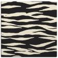 rug #414013 | square black stripes rug