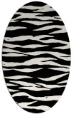 rug #414061 | oval white stripes rug
